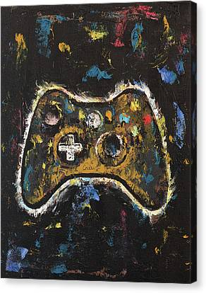 Consoling Canvas Print - Gamer by Michael Creese