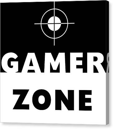 Gamer Zone- Art By Linda Woods Canvas Print by Linda Woods