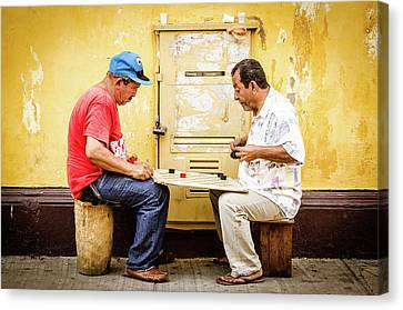 Cartagena Canvas Print - Gamers by Michael Weber