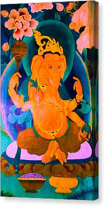 Ganapati 4 Canvas Print by Lanjee Chee