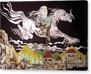 Gandalf And Shadowfax Canvas Print