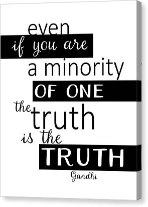 Canvas Print - Gandhi Quote On Truth by Ann Powell