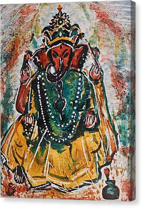 Ganesha-2 Canvas Print by Anand Swaroop Manchiraju