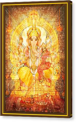 Ganesha Ganapati  Canvas Print by Ananda Vdovic