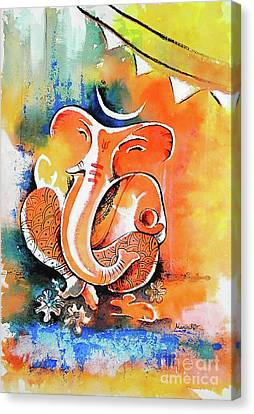 Ganesha Canvas Print by Hermana Arts
