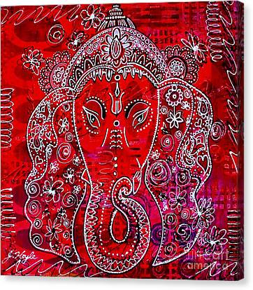 Ganesha Canvas Print by Julie Hoyle
