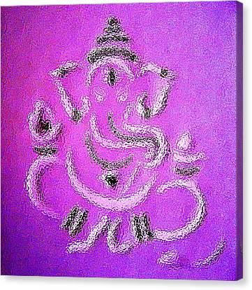 Ganesha Canvas Print by Piety Dsilva