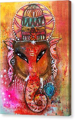 Ganesha Canvas Print by Prerna Poojara