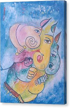 Ganesha Canvas Print by Rooma Mehra