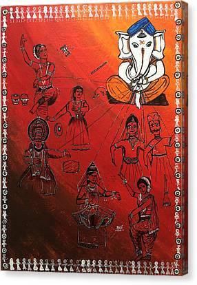 Ganesha - Sutradhar  Canvas Print by Aarti Bartake