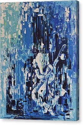 Ganesha Vara Blue Canvas Print by Durshit Bhaskar