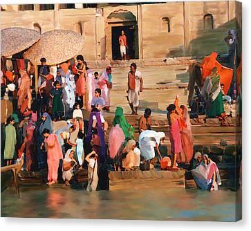 Ganges Canvas Print by Kurt Van Wagner