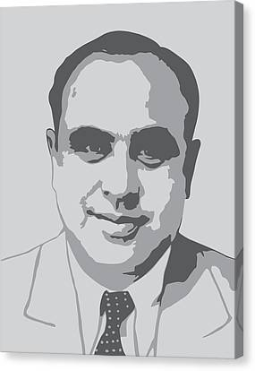 Gangster - Al Capone Canvas Print by War Is Hell Store