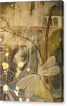 Canvas Print featuring the painting Ganth IIi by Jackie Mueller-Jones
