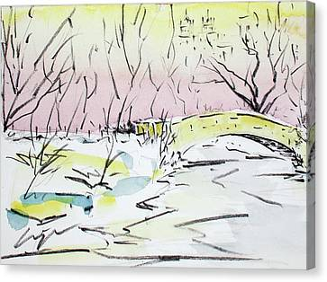 Gapstow In Winter Canvas Print by Chris Coyne