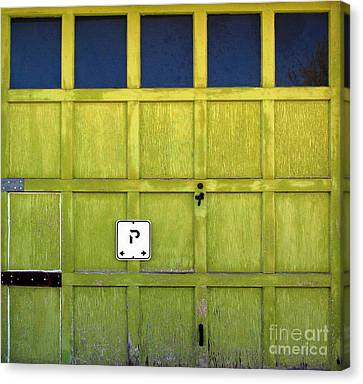 Garage Door Canvas Print by Ethna Gillespie