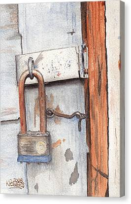 Garage Lock Number One Canvas Print by Ken Powers