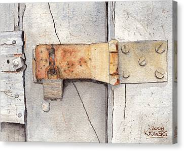 Garage Lock Number Two Canvas Print by Ken Powers