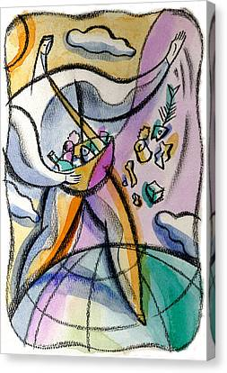 Garbage Canvas Print by Leon Zernitsky