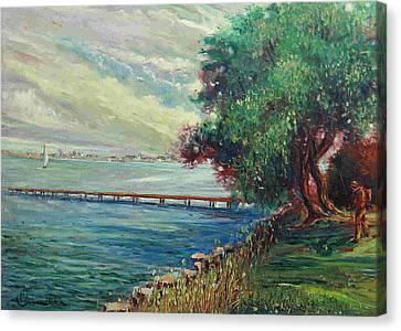 Garda Lake -lago Garda Canvas Print