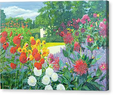 Garden And House Canvas Print by William Ireland