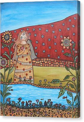 Garden Angel Canvas Print by Rain Ririn