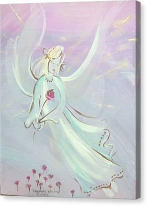 Garden Angel Canvas Print by Rosemary Babikan