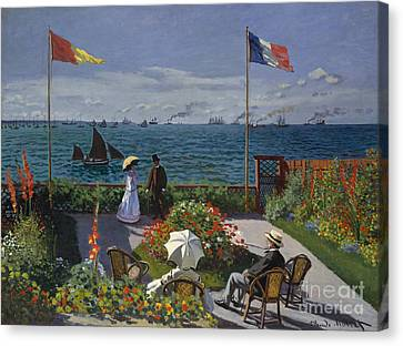 Garden At Sainte Adresse, 1867 Canvas Print