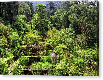 Garden At The Base Of Monserrate Canvas Print by Jess Kraft