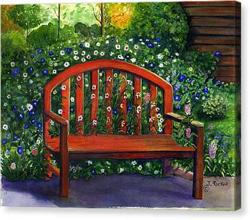 Garden Bench Canvas Print