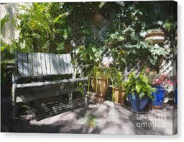 Garden Bench Canvas Print by Sheila Smart Fine Art Photography