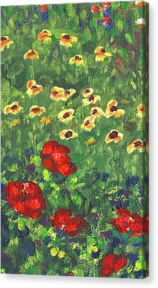 Impressionism Canvas Print - Garden Bloom Two Part A by Linda Mears
