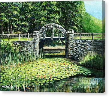 Garden Bridge Canvas Print by Paul Walsh
