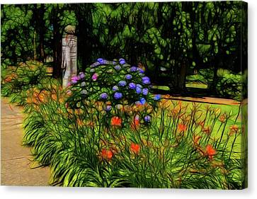 Garden By The Drive Canvas Print by Tim Coleman