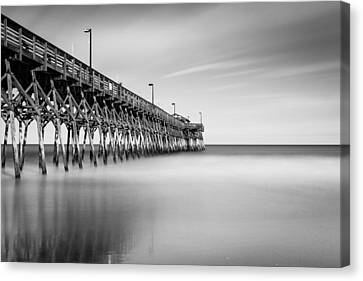 South Carolina Canvas Print - Garden City Pier Bw II by Ivo Kerssemakers
