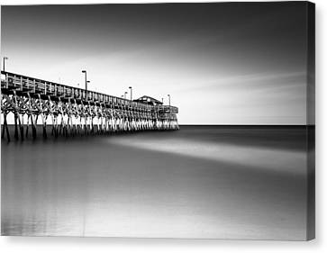 Garden City Pier Bw IIi Canvas Print