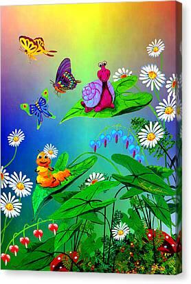 Garden Critters Canvas Print