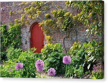 Garden Door - Paint With Canvas Texture Canvas Print