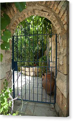 Canvas Print featuring the photograph Garden Door Entrance by Yoel Koskas