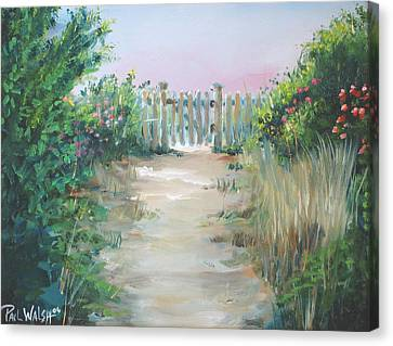 Garden Fence Canvas Print by Paul Walsh