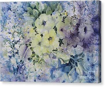 Garden-flowers Canvas Print by Nancy Newman