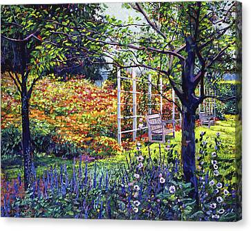 Garden For Dreaming Canvas Print by David Lloyd Glover