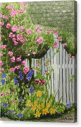 Garden Gate Canvas Print by Ally Benbrook