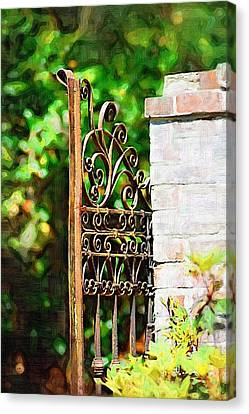 Canvas Print featuring the photograph Garden Gate by Donna Bentley