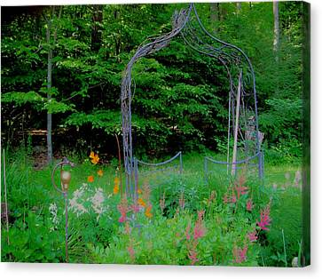 Canvas Print featuring the photograph Garden Gate by Susan Carella
