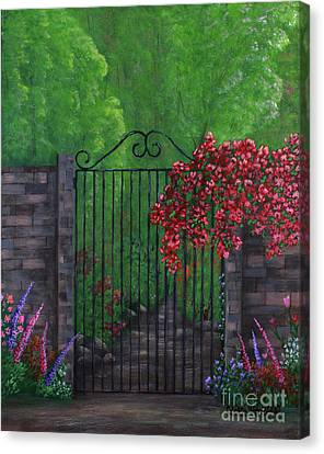 Canvas Print featuring the painting Garden Gateway by Kristi Roberts