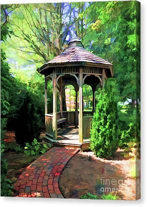Canvas Print featuring the photograph Garden Gazebo by Kerri Farley