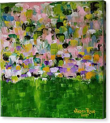 Canvas Print featuring the painting Garden Glory by Judith Rhue