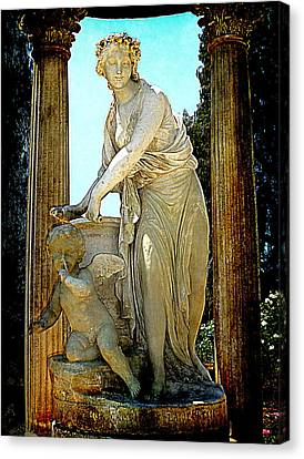 Canvas Print featuring the photograph Garden Goddess by Lori Seaman