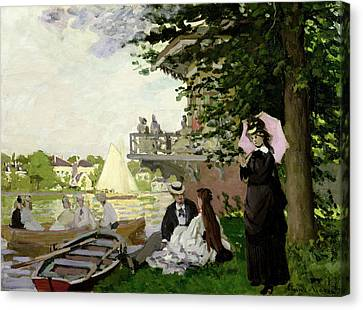 Garden House On The Zaan At Zaandam Canvas Print